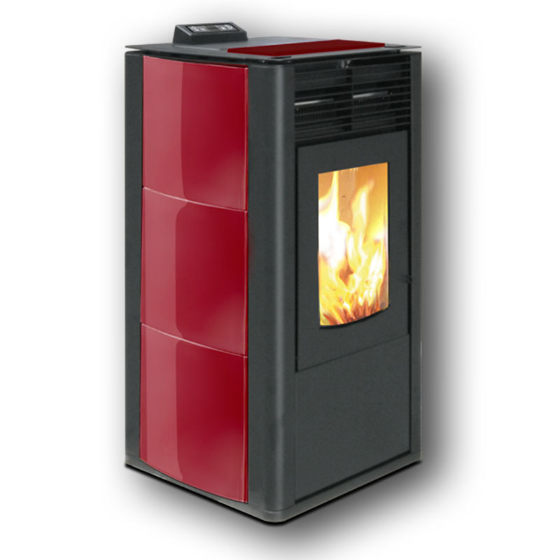 Classic xl ceramic wood pellet stove wood pellet stoves - Pellet stoves for small spaces set ...